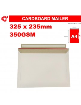 LindCo 325mm x 235mm A4 size 350GSM Semi-rigid mailer, Tough Bag Mailer, Tough Envelope