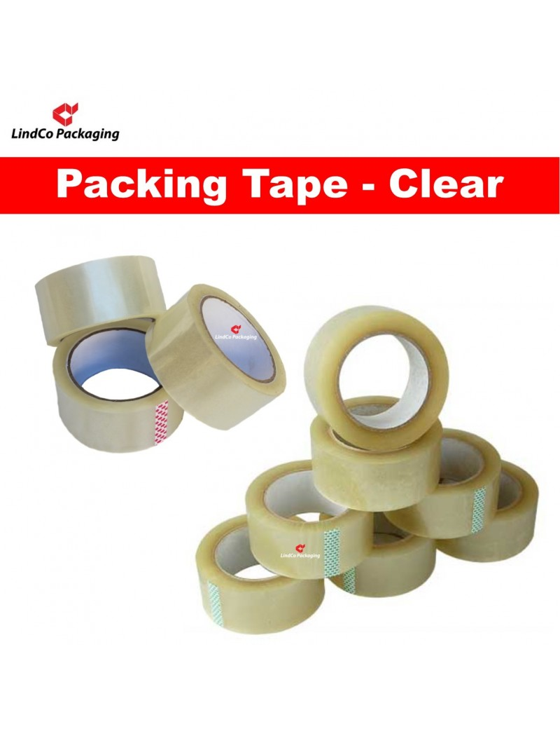 LindCo Premium 45u Clear packing tape - premium industrial protective packaging material @LindCo Packaging