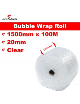 LindCo P20 Clear Bubble Wrap Roll void filling industrial protective packaging material @LindCo Packaging