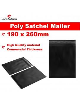LindCo Black Premium new PE courier satchel mailer bag - premium industrial protective packaging material @LindCo Packaging
